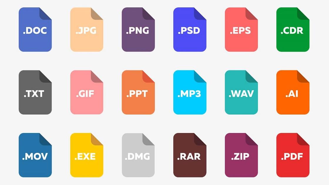Примеры расширений файлов